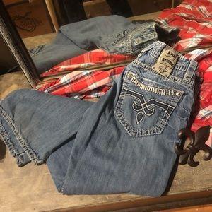 Rock Revival Jeans - Men's combo Rock Revival 34x34 BUCKLE shirt XL